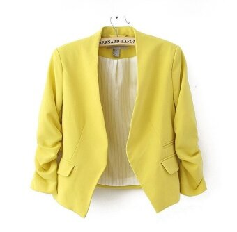 Harga Fashion Slim Candy Color Blazer - intl