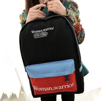กระเป๋าเป้+กระเป๋าสะพาย+กระเป๋าสะพายหลัง+กระเป๋าแฟชั่นรุ่น78c (สีดำ)
