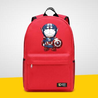 5e4a52ac6d Gangtiexia เกาหลีชายและหญิงนักเรียนกระเป๋าเป้สะพายหลังกระเป๋าสะพายไหล่ (สี แดง