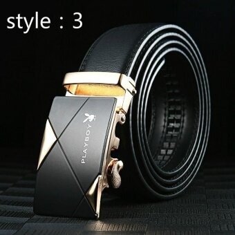 Harga Genuine Leather Belt Male Leather Automatic Deduction YouthBusiness Korean Trousers Middle - Aged Leather Belt GiftBox(style:3) - intl