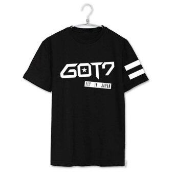 GOT7 FLY IN JAPAN Album Shirts K-POP 2016 Casual Cotton Tshirt TShirt Short Sleeve Tops T-shirt DX246 (Black) - intl