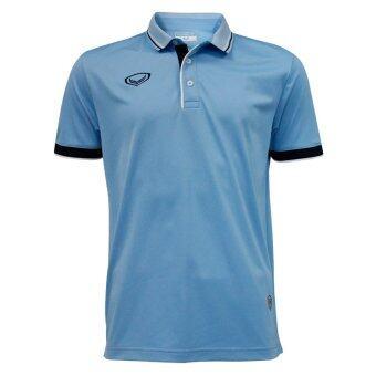 Grand sport เสื้อคอปกวอลเลย์บอลปี2016 (สีฟ้า)