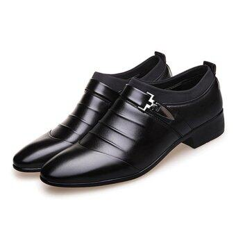 Hanyu Men's Formal Business Leather Shoes Casual Formal Shoes(Black) - intl