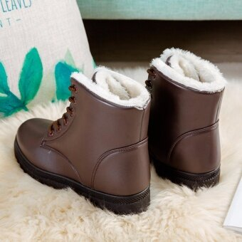 Hanyu Women's Snow Boots Martin Boots Outlets Waterproof LadisShoes(Brown Size 35) - intl - 5