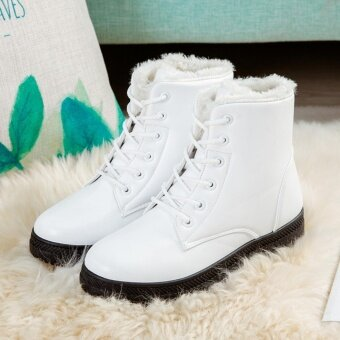 Hanyu Women's Snow Boots Martin Boots Outlets Waterproof LadisShoes(White Size 35) - intl - 2