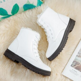 Hanyu Women's Snow Boots Martin Boots Outlets Waterproof LadisShoes(White Size 35) - intl - 4