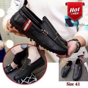 Hayashi - รองเท้าหนังสไตล์หรู รุ่น T2955 (สีดำ) เบอร์ 41