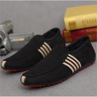 HengSong Fashion Men 's Peas Shoes Slip-Ons Breathable Casual Shoes .