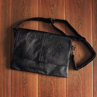 HINS กระเป๋าสะพายข้าง สไตล์ Messenger รุ่น 6002 (สีดำ)