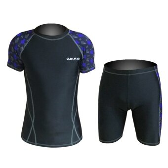 Hot Selling Men's Elastic Breathable Wetsuit Sunproof Swimming SuitDiving Suit-Black - intl