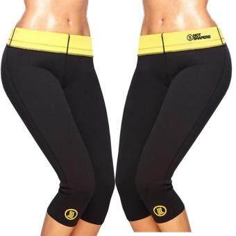 กางเกงเรียกเหงื่อ กางเกงออกกำลังกาย Hot Shapers แพคคู่ สีดำ Size-L