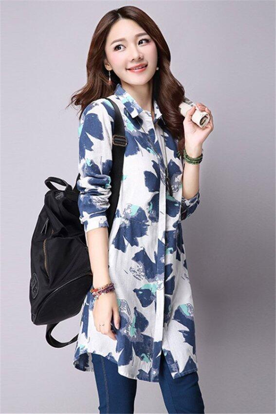 แฟชั่นเกาหลีผ้าพิมพ์ลาย Hotyv ผู้หญิงตัวยาวกระเป๋า HSH002