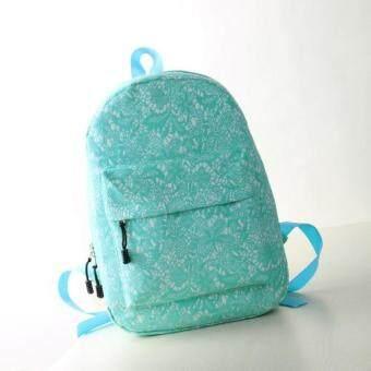 HS กระเป๋าเป้สะพายหลัง ผ้า Canvas ผสมรุ่น HSWB0005 (Blue)