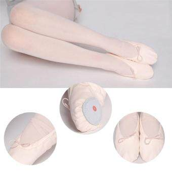 Harga Elastic Canvas Ballet Slippers Yoga Dance Shoes for Kids (Beige,Kid-9) - intl