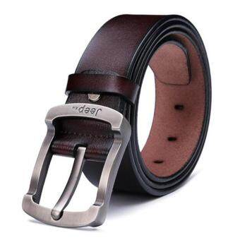 Harga Men's Fashion Casual Leather Belts -- Can Adjust The Length - intl