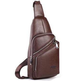Harga Jeep Men's Leisure Chest Pack Crossbody Bag Shoulder Bag Outdoor Sports Handbag (Brown) - intl