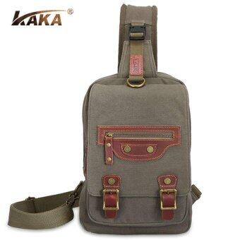 Harga Army Green Multi-functional Messeger Crossbody Bags Canvas Retro Men Shoulder Bags - intl