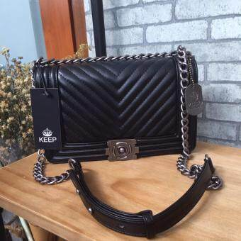 Harga กระเป๋าKEEP shoulder Luxury Quited bag(Int: One size)