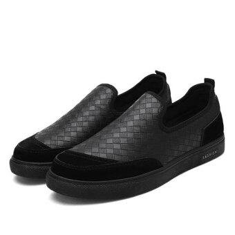 Harga Spring Fashion New Flat with Lazy Shoes(BLACK) (OVERSEAS) - intl