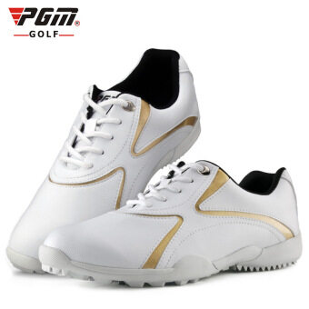 Harga Women Sport Golf Shoes Color White Gold Size 35-39 - intl