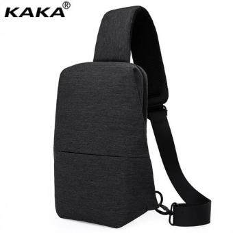 Harga Lan-store Premium Quality Chest Bag--KAKA Men's Chest Bag Multi-function Oxford Messenger Bag Single Shoulder Bag Storage Bag (Black) - intl
