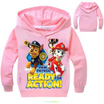 Harga 'Paw Patrol 3-10 Years Old 95-135cm Hight Boy or Girls'' Long-sleeved Thin Coats(Color:Pink) - intl'