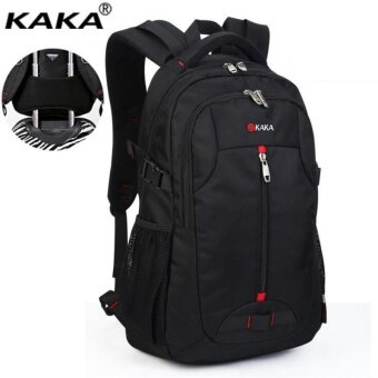 Harga KAKA 14 Inch Business Backpack Waterproof Oxford Travel Bags Laptop Computer Bags Notebook Backpack (Black) - intl