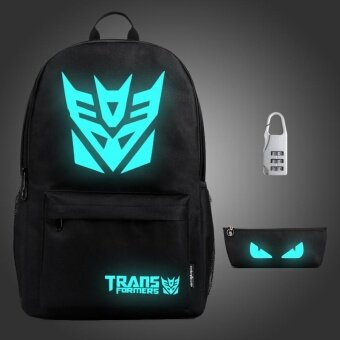 Harga 3PCS/SET Glow in the Dark Night Light School Bag Travel Luminous Backpack (Big Ants) - intl
