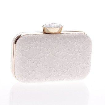 Harga Fashion Female Lace Bag Dinner Party Handbag White (Intl)