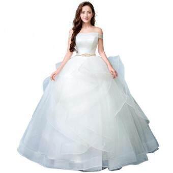 Harga Leonedo.Novia ivory bridal gowns bride dresses buy from china wedding dress - intl