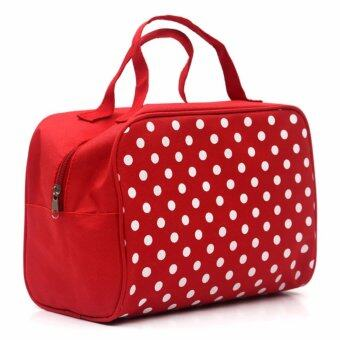 Harga Fashion Lady Organizer Multi Functional Makeup Bag Handle Bag - intl