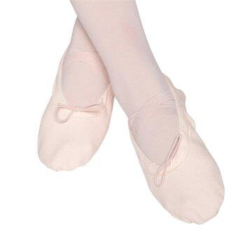 Harga Elastic Canvas Ballet Slippers Yoga Dance Shoes for Kids (Beige,Kid-13) - intl