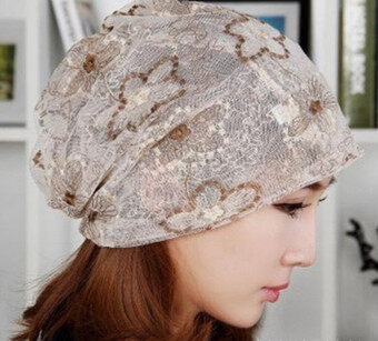 Harga Women Lady Winter Chemo Bandana Beanie Turban Head Wrap Band Lace Hat Warm Cap