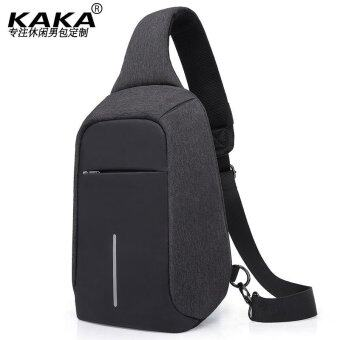 Harga KAKA Crossbody Bags for Men Messenger Chest Bag Pack Casual Packs Waterproof Oxford Single Shoulder Strap Pack (Black) - intl