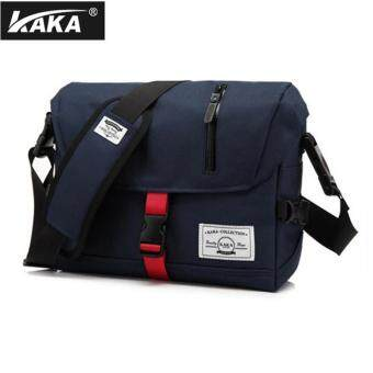 Harga Lan-store Premium Quality Messenger Bag--KAKA Wear-resisting Ventilation Oxford Handbags Fashion Casual Crossbody Bags For Women Men Travel Business Bags (Navy) - intl