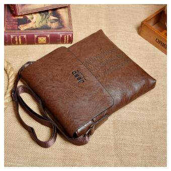 Harga Jeep Cowhide Leather Crossbody Bag casual package travel Shoulder Bag Men Business Messenger (Coffe) - intl