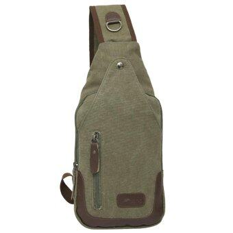 Harga Canvas Chest Pack Men Messenger Bags Casual Travel Flap Male Small Retro - intl
