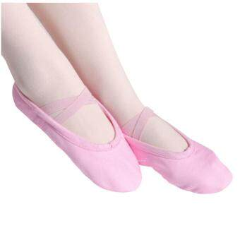 Harga Elastic Canvas Ballet Slippers Yoga Dance Shoes for Kids (Pink,Kid-11.5) - intl