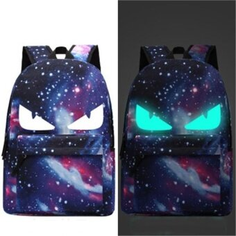 Harga Travel Glow in the Dark Night Light School Bag Starry Sky Luminous Backpack(Devil) - intl