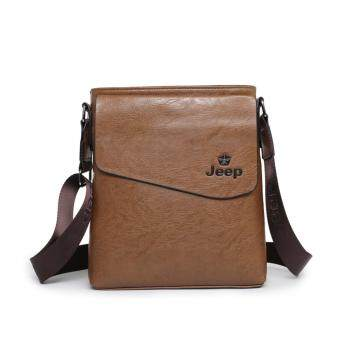 Harga Jeep Men's fashion Shoulder Bag Messenger Bag Men's Business Casual Bag(Khaki) - intl