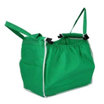 Harga Supermarket Shopping Bag Foldable Tote Reusable Big-size Washable Eco-Friendly Grab Trolley Bag - intl