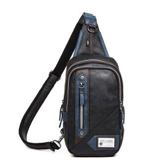 Harga Men PU Leather Messenger Sling Bag 150084