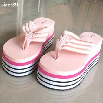 Harga Fashion lady slipper increased Slides & Flip Flops size:38 (pink)