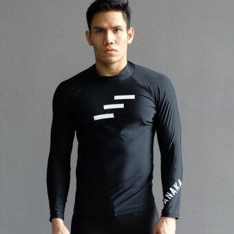 Harga WNK 169 LONG SLEEVE RASHGUARD BLACK