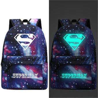 Harga Travel Glow in the Dark Night Light School Bag Starry Sky Luminous Backpack(Superman) - intl