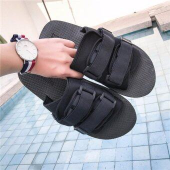 Harga 2017 new fashion male port wind indoor sandals creative Korean casual beach shoes - intl