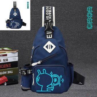 IPA ย้อนยุคผู้ชายกระเป๋าสะพายชายของ Messenger หน้าอกถุง (สีฟ้า [แต่ยัง Shuai ได้])