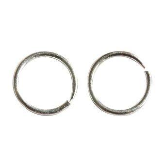 ประกาศขาย Jetting Sterling Silver Small Thin Endless Hoop Earrings Round