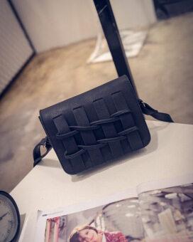 สี่เหลี่ยมเล็กๆ Jianyue ฤดูใบไม้ผลิรั้วแพคเกจขนาดเล็กกระเป๋าเกาหลีกระเป๋าถือ (สีดำ)
