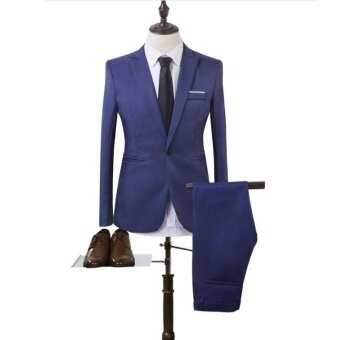 Harga JOY Korea Korean fashion Business suit two piece suit blue - intl